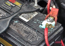 Cleaning car battery terminals