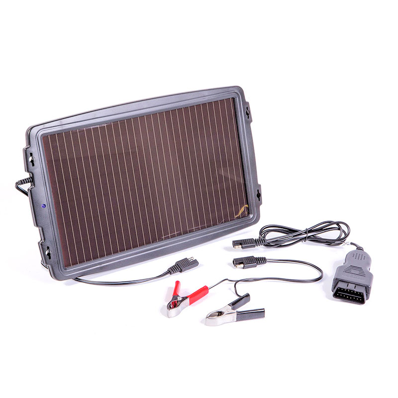 Solar-powered car battery charger