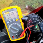 Motorcycle battery voltage