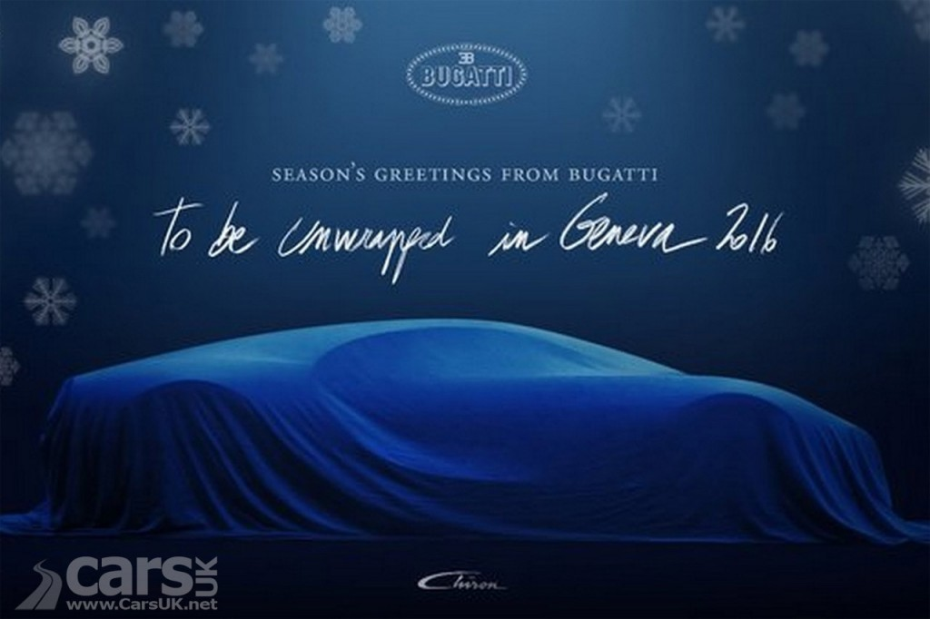 Bugatti tease the brand new Chiron with festive greetings