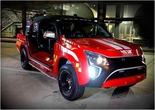 Isuzu D-Max-based fire engine revealed by Hope Technik